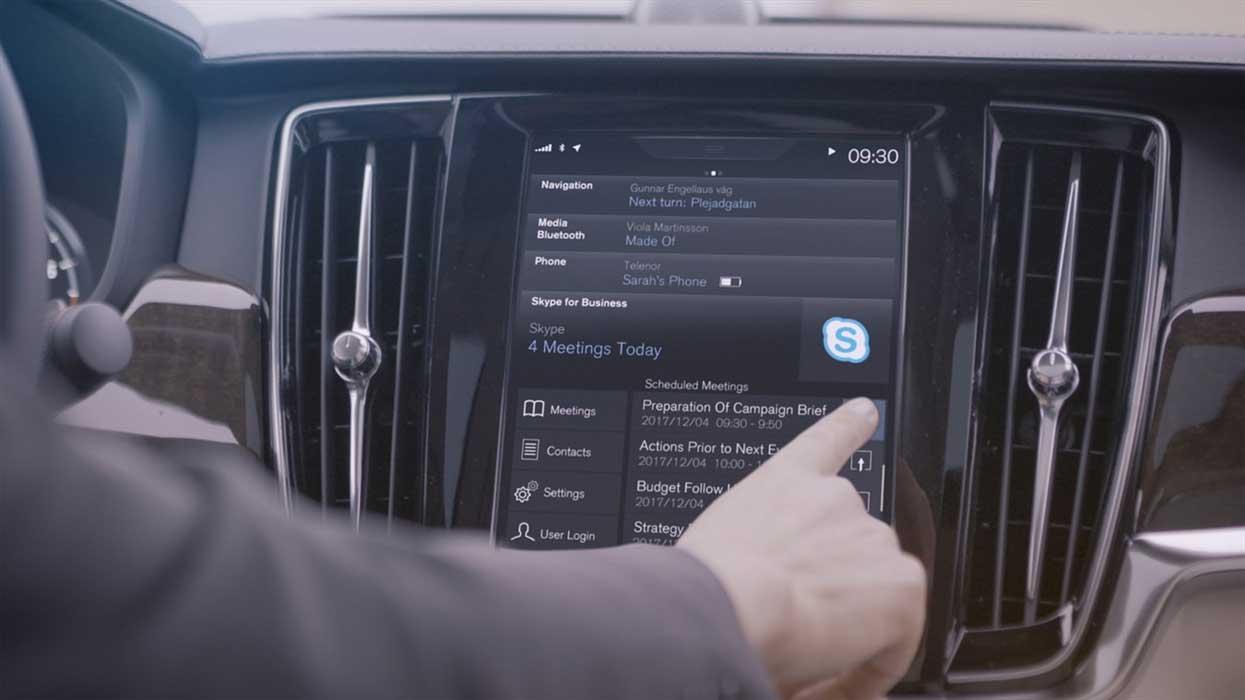 Skype su Volvo Serie 90
